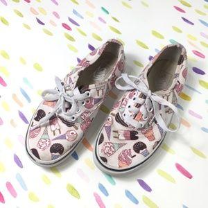 Vans girls glitter ice cream low top sneakers 1